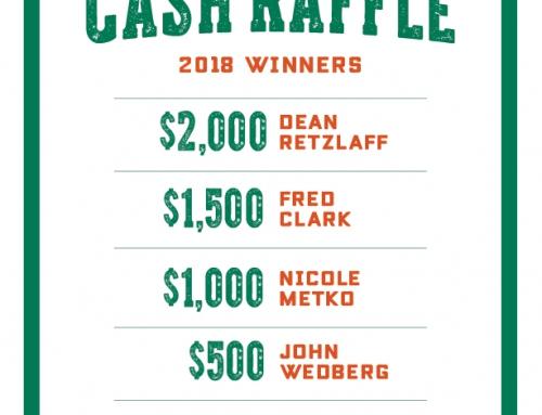 2018 Cash Raffle Winners